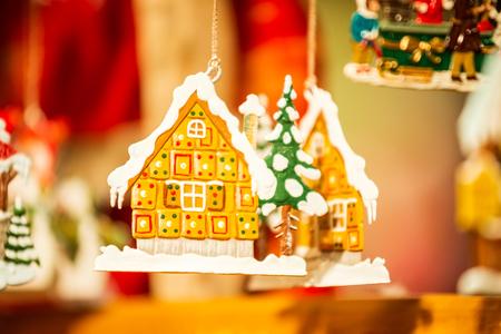 Strasbourg, France. Marche de Noel decorations in Strasbourg, Christmas Market in Alsace. Reklamní fotografie