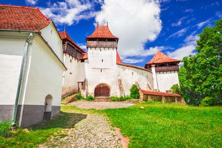 Viscri Church, Transylvania. Fortified saxon church in Romania, heritage destination of Europe.