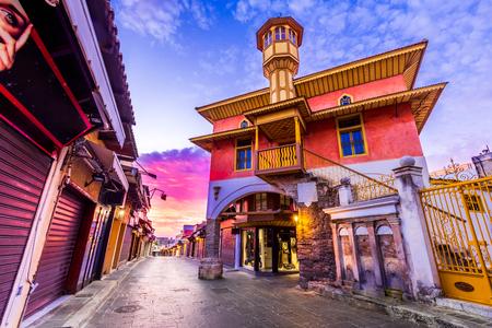 Rhodes, Greece. Aga Camii mosque in Rhodos old town, Dodecanese Islands. Redakční