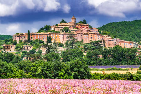 Banon, France - Scenic hilltop village with lavender fields in Provence.
