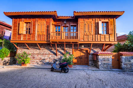 Sozopol, Bulgaria. Medieval downtown Apollonia with wooden houses 写真素材