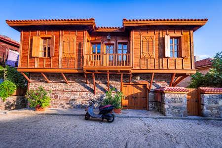 Sozopol, Bulgaria. Medieval downtown Apollonia with wooden houses 免版税图像