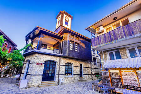 Nesebar, Bulgaria. Mesembria ancient city on the Black Sea coast Burgas province. 免版税图像