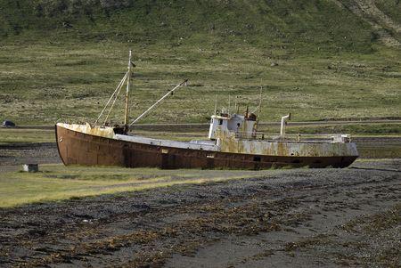 stranded: Stranded Vessel Stock Photo