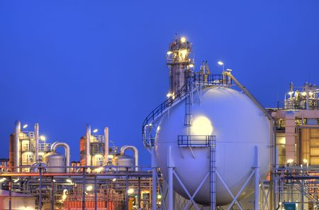 Intimate part a large chemical production complex. Stock Photo