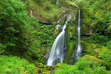 エルク クリーク滝、オレゴン州 写真素材