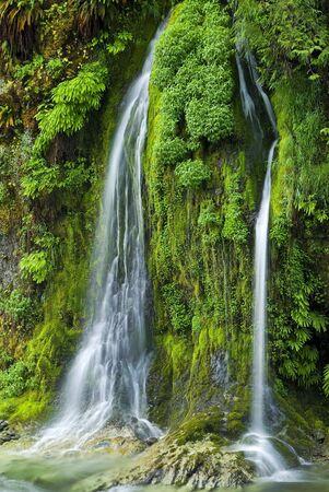 サーモン クリーク滝、オレゴン州 写真素材