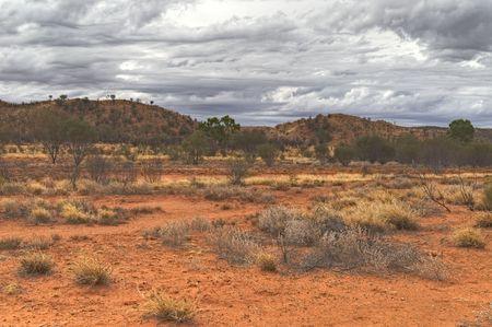 西マクドネル山脈、オーストラリアの高ダイナミック レンジ (HDR) の印象