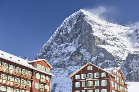 Eiger North Face from Kleine Scheidegg, Switserland