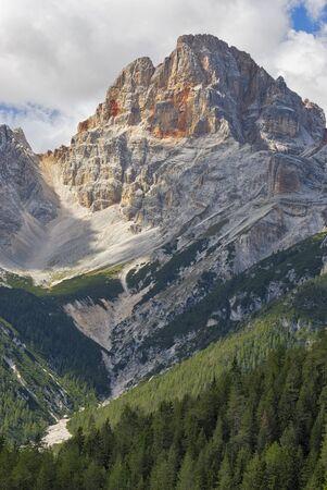 rockslide: Sun setting on Passo di Giau Dolimites