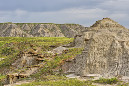 Ancient badlands in Dinosaur Provincial Park, Alberta, Canada