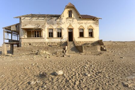 Abandoned miners building in the desert, Namibia. 写真素材