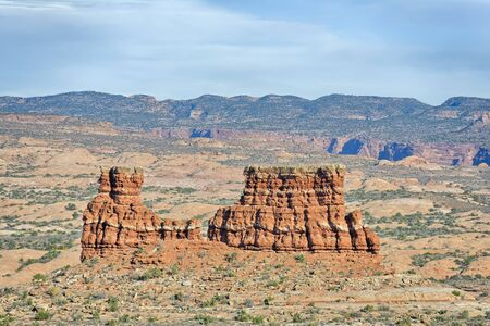 La Sal Mountains Viewpoint, Arches National Park, Utah, USA