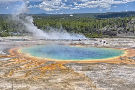 Grand Prismatic Spring from Picture Hill, Yellowstone National Park, Wyoming, USA