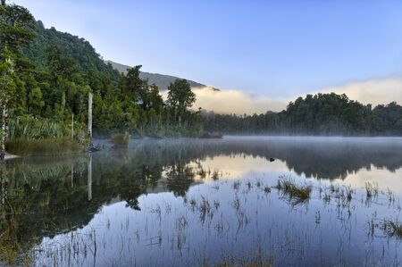 Reflection in Lake Kaniere, South Island, New Zealand Reklamní fotografie