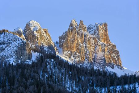 Dolomites in late afternoon sunlight, Italy