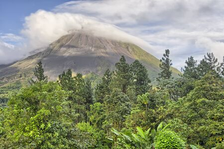 Arenal Volcano as seen from Arenal Lodge, Costa Rica.