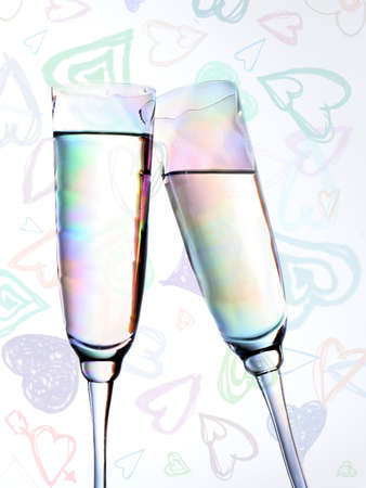 brindis champan: Brindis de champ�n en una valentine antecedentes