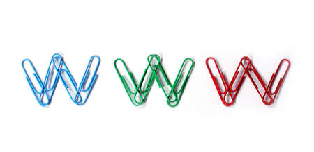 arranged: colored paper clips arranged in
