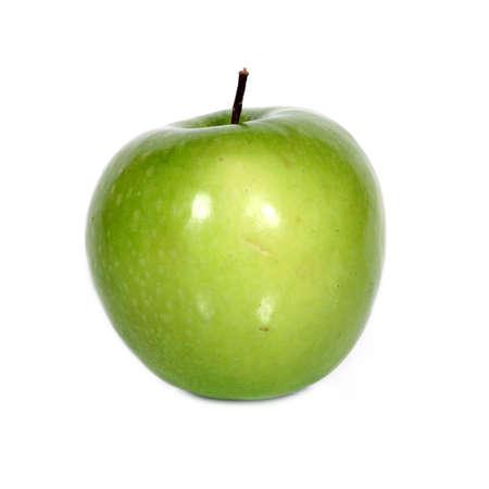 green apple over white (see similar photos in my portfolio) Stock Photo