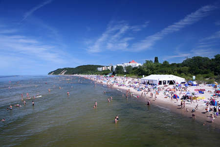 scenary: seaside town - Miedzyzdroje, Poland Stock Photo
