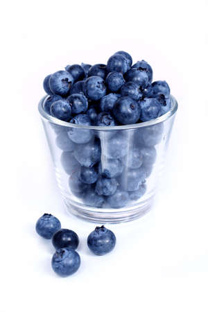 glass of delicious blueberries Stock Photo