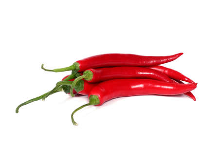 bunch of hot chilli peppers with isolated background Stock Photo