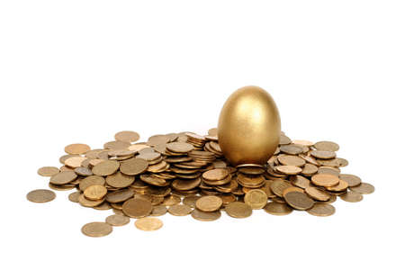 priceless: golden egg and coins