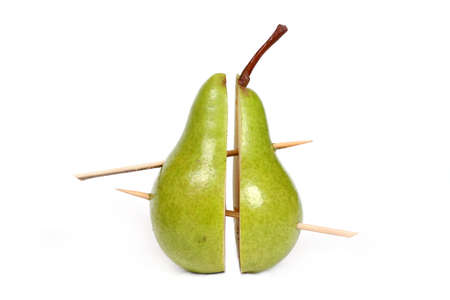 two and a half: two half of a pear joined together