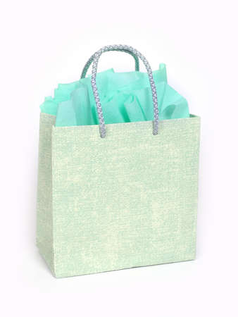 green gifts bag