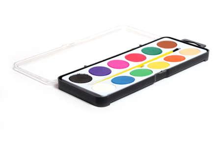 dof: watercolor tray detail (shallow DOF)