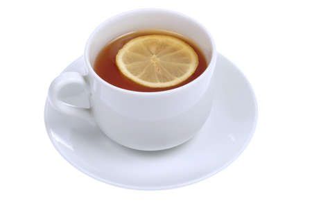 cup of tea with lemon isolated on white background Stock Photo - 699764