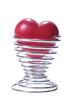 eggcup: little valentines heart in silver egg-cup