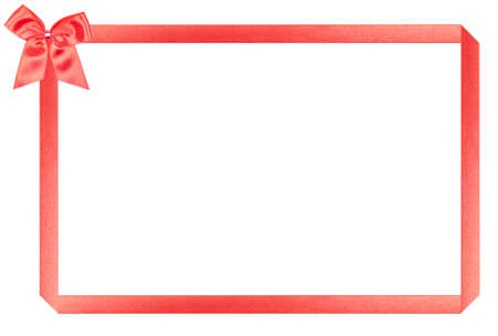 red holiday frame, perfectly isolated on white background (very easy to cut out) photo