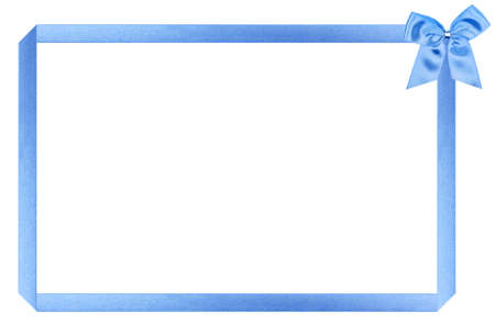 blue holiday frame, perfectly isolated on white background (very easy to cut out) Stock Photo - 6230471