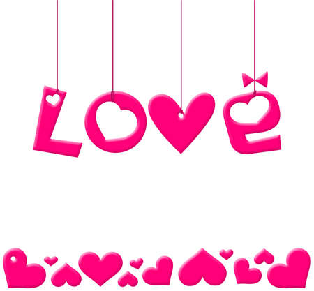 Valentines Day illustration with hearts Stock Illustration - 6241541
