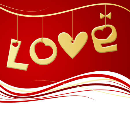 Valentines Day illustration with  illustration