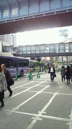 渋谷のバス停。東京です。