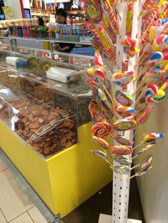 ショッピング モールでわた菓子ショップ