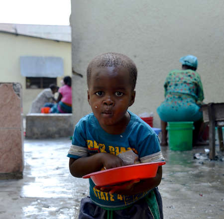 orphan: Little boy at African Orphanage  Editorial