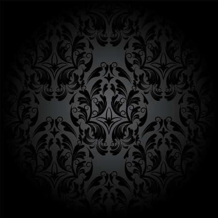 Luxus nahtlose Muster gotische Holzkohle. Dunkle Tapete