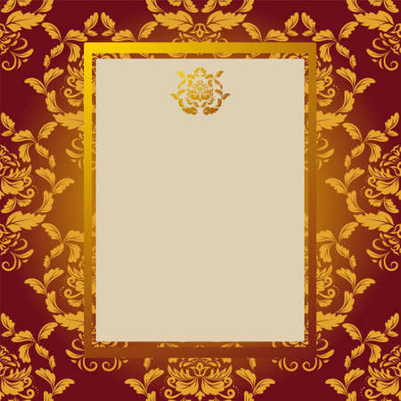 gold design: Invitation card with gold design elements Illustration