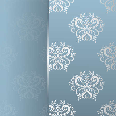 Delicate invitation card  Seamless background  Light pattern Vector
