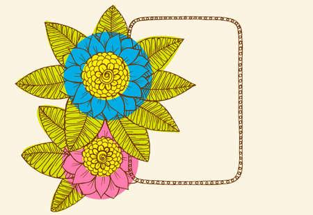 Handdrawn floral frame Illustration