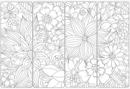 装飾的な白黒ブックマークのベクトルを設定