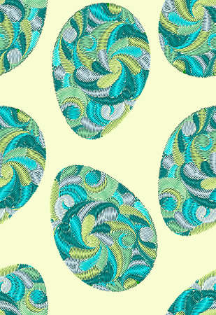 Colorful Easter eggs pattern. Vector seamless pattern in easter motive.