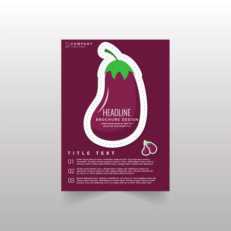 Fruit Brochure design template vector. Flayer annual report. Leaflet cover presentation. Layout  illustration. 일러스트