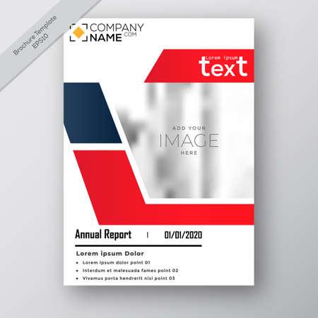 Business annual report brochure flayer design template vector, modern publication poster magazine, stock vector Vector Illustration