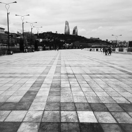 baku: Boulvard of Baku city-Azerbaijan Stock Photo