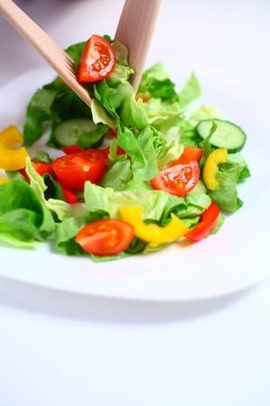 Gemüse-Salat auf einem Teller, flache DOF Lizenzfreie Bilder